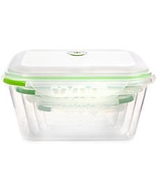 INSTAVAC Green Earth Food Storage Container, BPA-Free 8-Piece Nesting Set