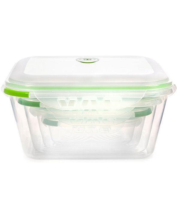 Ozeri INSTAVAC Green Earth Food Storage Container, BPA-Free 8-Piece Nesting Set