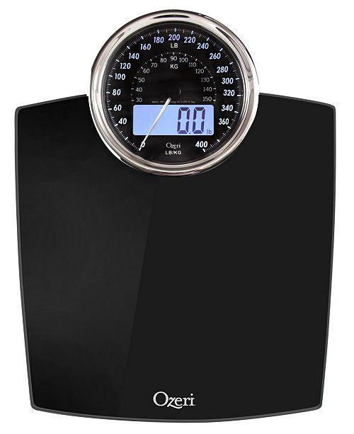 Ozeri Rev 400 lbs Bath Scale with Electro-Mechanical Display and 0.1 lbs Sensors