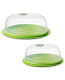 INSTAVAC Ready-Serve Food Storage Container, BPA-Free 4-Piece Nesting Set