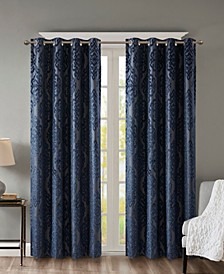 "Mirage 50"" x 108"" Damask Total Blackout Curtain Panel"