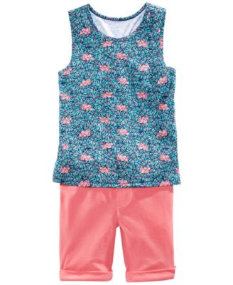 Little Girls Solid Bermuda Shorts, Created for Macy's