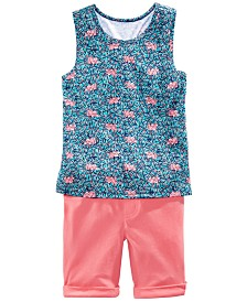 Epic Threads Little Girls Tiger-Print Tank Top &  Bermuda Shorts, Created for Macy's