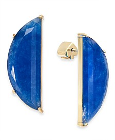 kate spade new york Gold-Tone Stone Half-Circle Drop Earrings