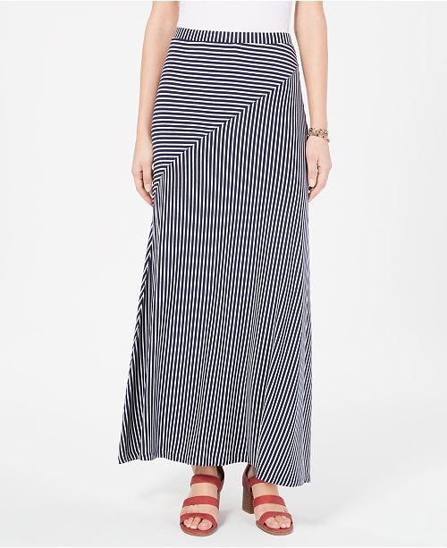 stylish design hot-selling professional high fashion Striped Pull-On Maxi Skirt, Created for Macy's