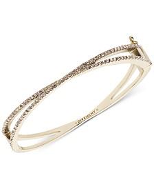 Givenchy Pavé Crossover Bangle Bracelet