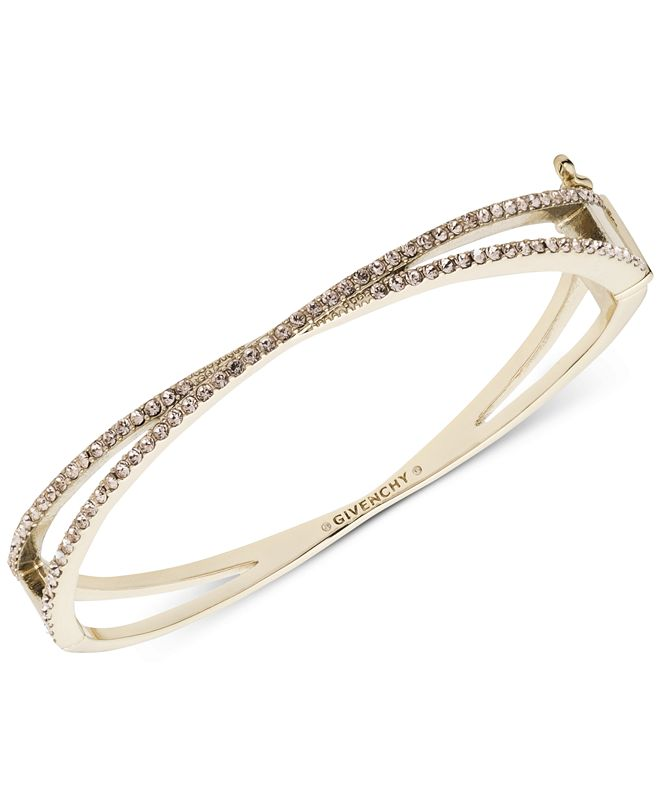 Givenchy Pavé Crossover Bangle Bracelet