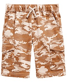 Epic Threads Toddler Boys Stretch Camouflage Twill Cargo Shorts, Created for Macy's