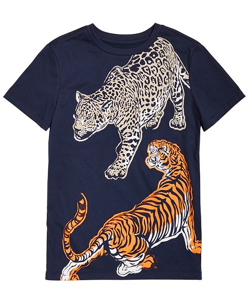 Epic Threads Little Boys Dueling Tiger T-Shirt, Created for Macy's