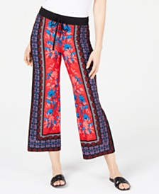 I.N.C. Tie-Waist Wide-Leg Pants, Created for Macy's