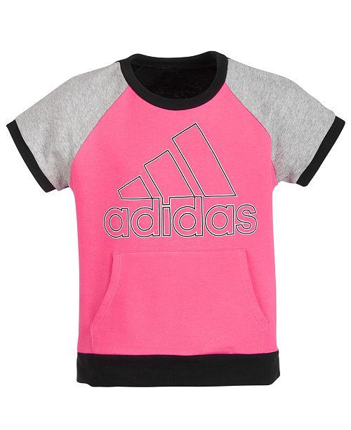 adidas Big Girls Colorblocked Logo Top