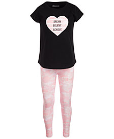 Ideology Toddler Girls 2-Pc. Graphic-Print T-Shirt & Leggings Set, Created for Macy's