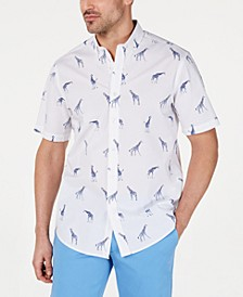 Men's Stretch Giraffe-Print Shirt, Created for Macy's