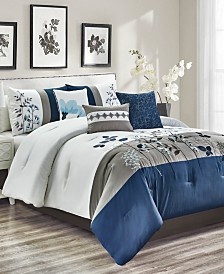CLOSEOUT! Anastasia 7-Pc. Queen Comforter Set