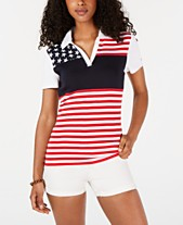 44bee322aa Tommy Hilfiger Printed Striped Cotton Polo, Created for Macy's