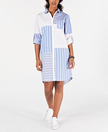 Patchwork-Print Shirtdress, Created for Macy's