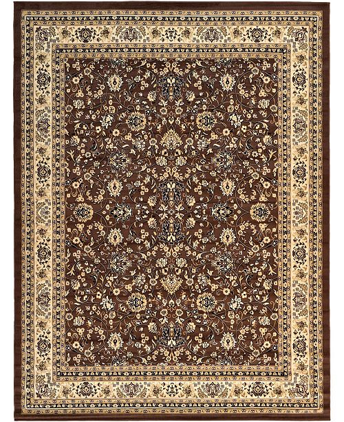 "Bridgeport Home Arnav Arn1 Brown 9' 10"" x 13' Area Rug"