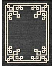 Anzu Anz3 Black 9' x 12' Area Rug