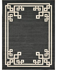 Bridgeport Home Anzu Anz3 Black 9' x 12' Area Rug