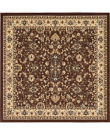 Arnav Arn1 Brown 8' x 8' Square Area Rug