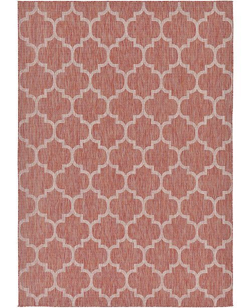 Bridgeport Home Pashio Pas5 Rust Red 7' x 10' Area Rug