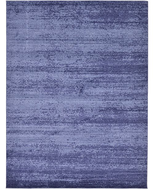 Bridgeport Home Lyon Lyo3 Navy Blue 9' x 12' Area Rug