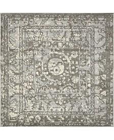 Aldrose Ald3 Gray 8' x 8' Square Area Rug