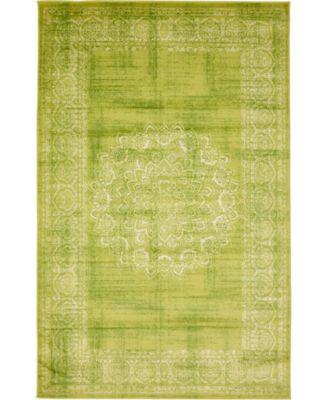 Linport Lin5 Light Green 5' x 8' Area Rug