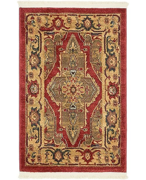 "Bridgeport Home Harik Har9 Red 2' 2"" x 3' Area Rug"