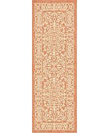 Bridgeport Home Pashio Pas6 Terracotta 2' x 6' Runner Area Rug