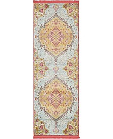 "Kenna Ken1 Gold 2' 2"" x 6' Runner Area Rug"