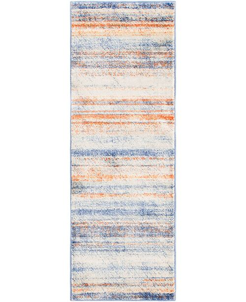 "Bridgeport Home Haven Hav3 Multi 2' 2"" x 6' Runner Area Rug"