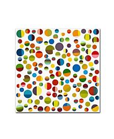 """Michelle Calkins 'Found My Marbles 3.0' Canvas Art - 18"""" x 18"""""""