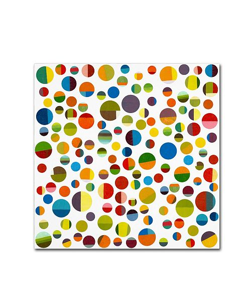 "Trademark Global Michelle Calkins 'Found My Marbles 3.0' Canvas Art - 18"" x 18"""
