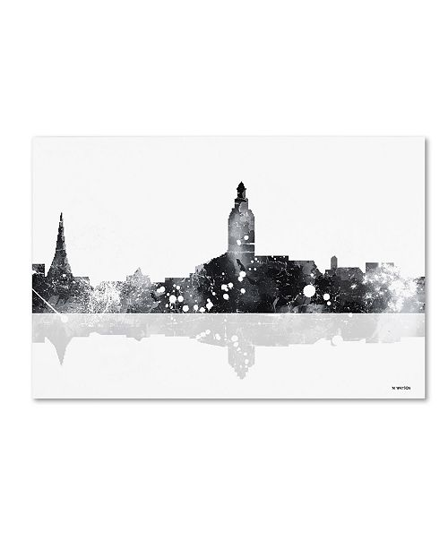 "Trademark Global Marlene Watson 'Annapolis Maryland Skyline BG-1' Canvas Art - 16"" x 24"""