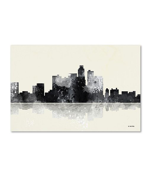 "Trademark Global Marlene Watson 'Los Angeles California Skyline BG-1' Canvas Art - 16"" x 24"""