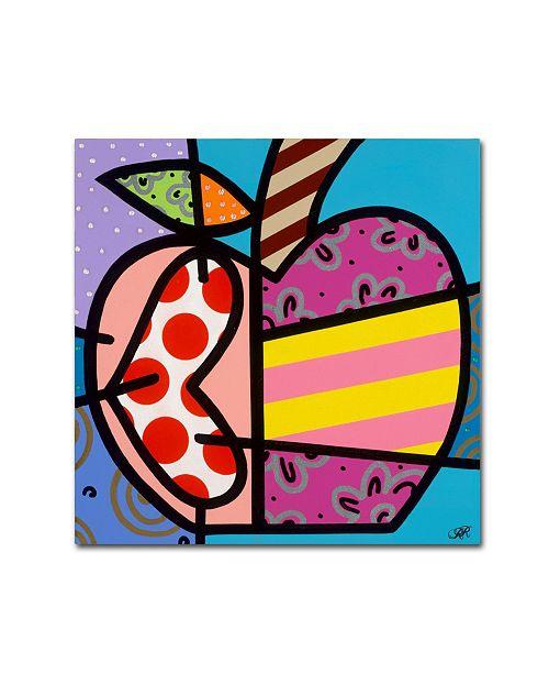 "Trademark Global Roberto Rafael 'Big Apple II' Canvas Art - 18"" x 18"""