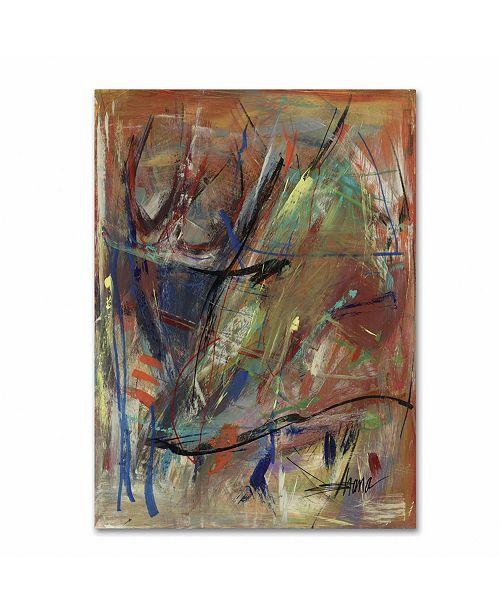 "Trademark Global Shana Doumingez 'Bright Swoon' Canvas Art - 18"" x 24"""