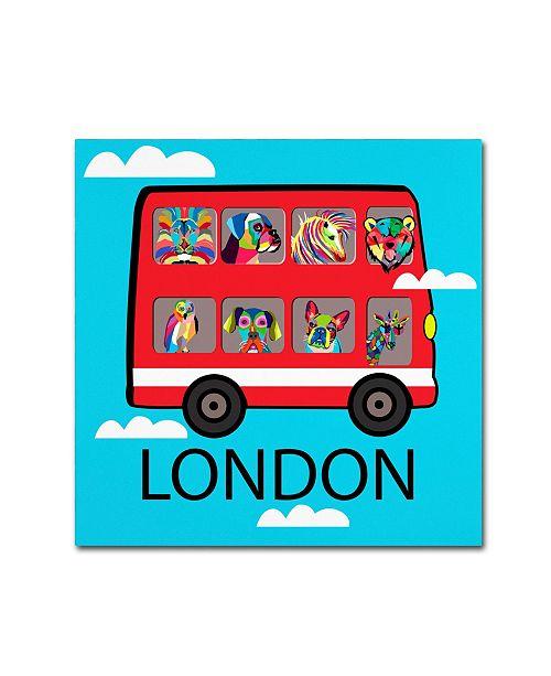 "Trademark Global Mark Ashkenazi 'London 2' Canvas Art - 18"" x 18"""