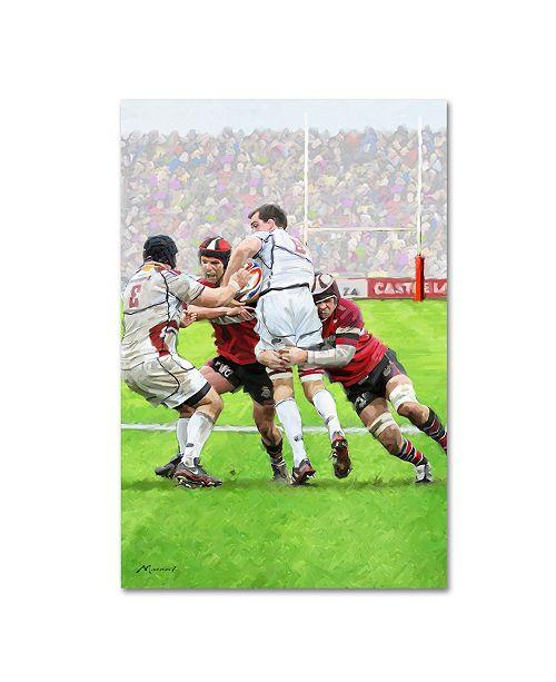"Trademark Global The Macneil Studio 'Rugby' Canvas Art - 16"" x 24"""