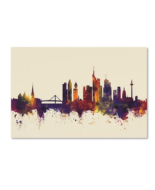 "Trademark Global Michael Tompsett 'Frankfurt Germany Skyline IV' Canvas Art - 16"" x 24"""