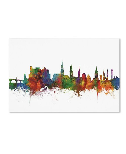 "Trademark Global Michael Tompsett 'Heidelberg Germany Skyline IV' Canvas Art - 16"" x 24"""