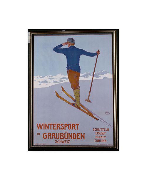 "Trademark Global Walter Koch 'Wintersport in Graubunden 1906' Canvas Art - 18"" x 24"""