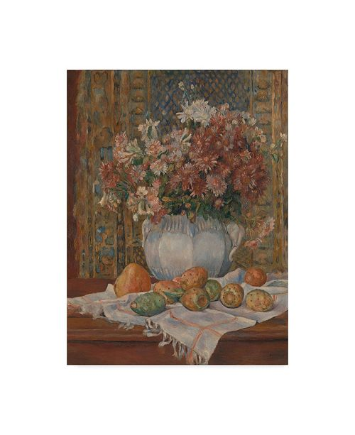 """Trademark Global Pierre Auguste Renoir 'Still Life with Prickly Pears' Canvas Art - 18"""" x 24"""""""