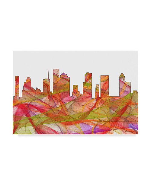 Home Decor Stores Houston Tx: Trademark Global Marlene Watson 'Houston Texas Skyline