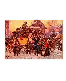 "Vintage Apple Collection 'Christmas Carriage' Canvas Art - 16"" x 24"""