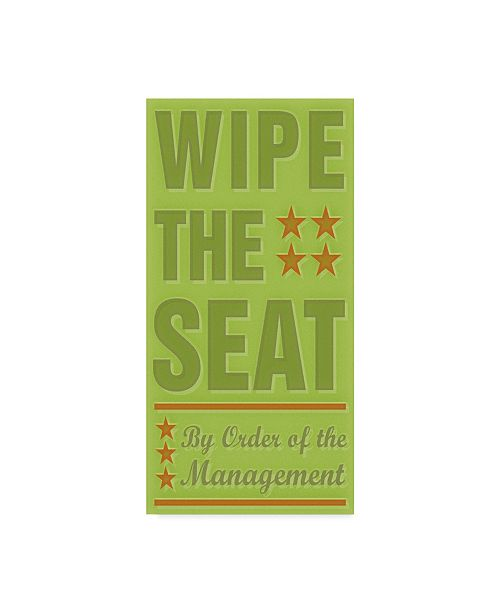 "Trademark Global John W. Golden 'Wipe The Seat' Canvas Art - 16"" x 32"""