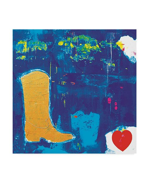 "Trademark Global Nicole Dietz 'Cowgirl Boots Love' Canvas Art - 18"" x 18"""