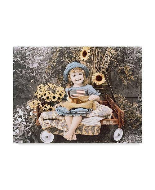 "Trademark Global Sharon Forbes 'Sunflower Smile' Canvas Art - 18"" x 24"""