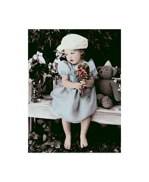 "Trademark Global Sharon Forbes 'Forget Me Not' Canvas Art - 18"" x 24"""